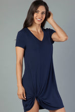 Hope V Neck Side Knot Dress