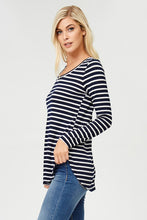 Curvy Girl Light Weight Striped Top