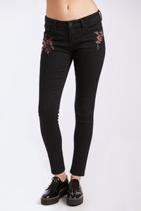 Gisele Highrise Skinny in Noir Bloom
