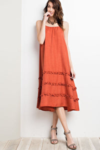 Sun Cami Ruffled Maxi Dress