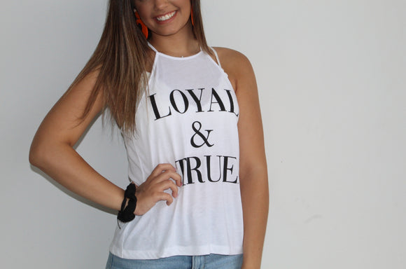 Loyal & True High Neck Tank
