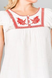 Curvy Girl Floral Embroidered Top