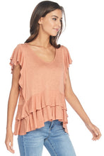 Ruffled Knit Top