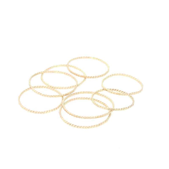 Gold Rope Stacking Ring