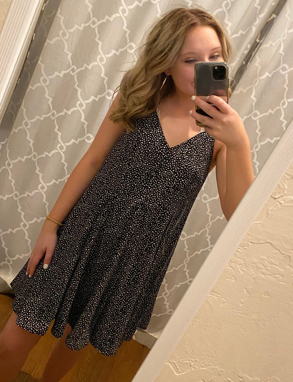 Spotted T-Strap Dress