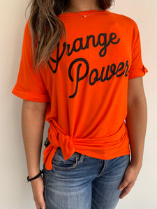 Orange Power Side Slit Tee