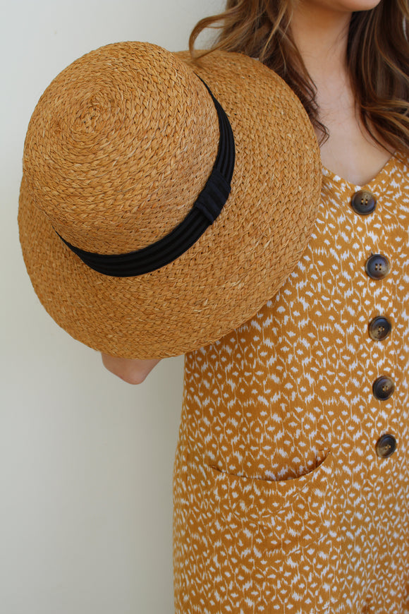 Vintage French Straw Hat
