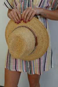 Straw Crown Folded Panama Hat