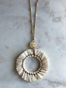 Paper & Gold Circle Necklace