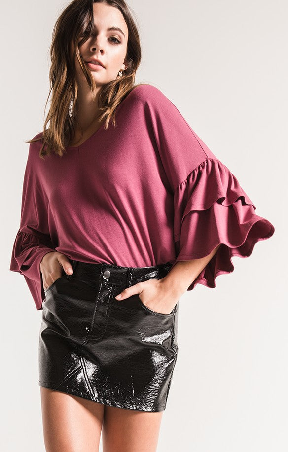 Issa Oversized Ruffle Top