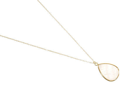 Pearl and Yellow Gold Teardrop Necklace