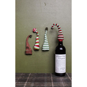 "7"" Knit Hat Wine Bottle Topper"