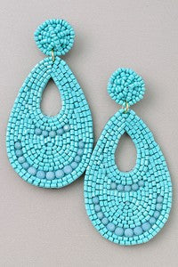 Seed Bead earrings with oval design