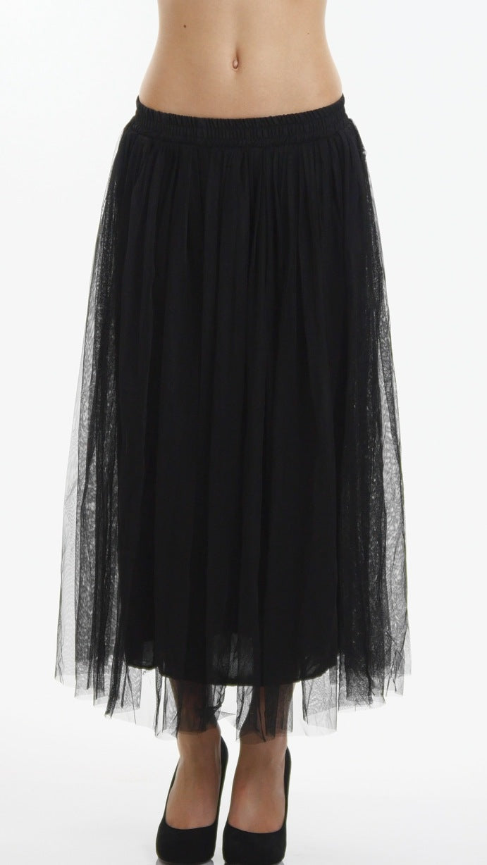 Classic Long Tulle Skirt
