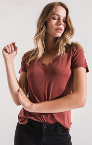 The Lux Modal Deep V-Neck Tee