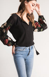 Mariah Embroidered Top