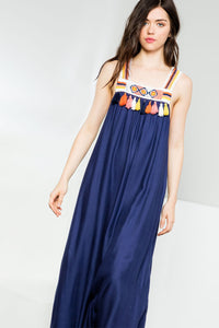 Maxi with Crochet Straps and Tassel detail