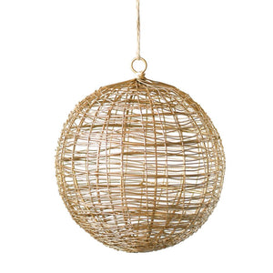 "6"" Round Metal Wire Ball Ornament"