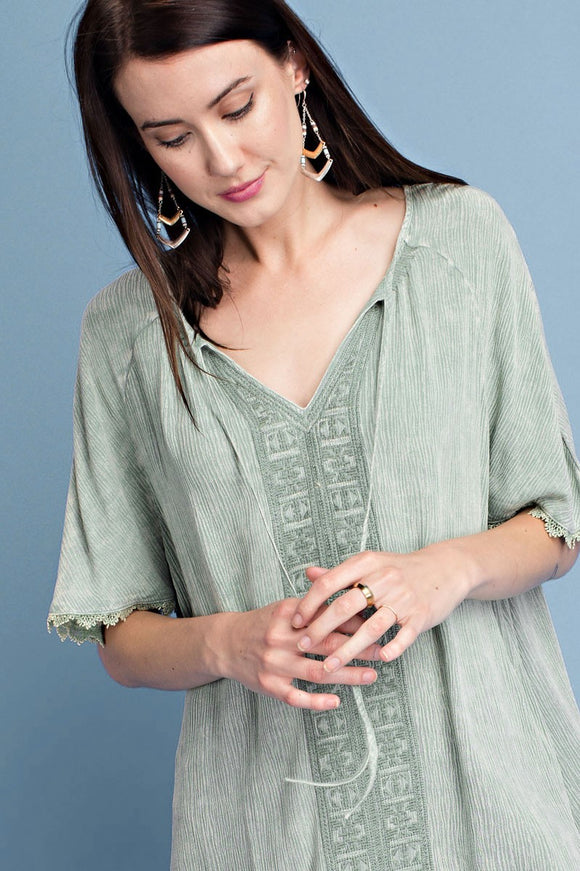 Embroidery Front Top