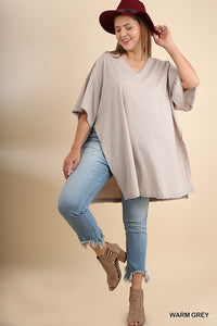 Oversized V-Neck Shirt