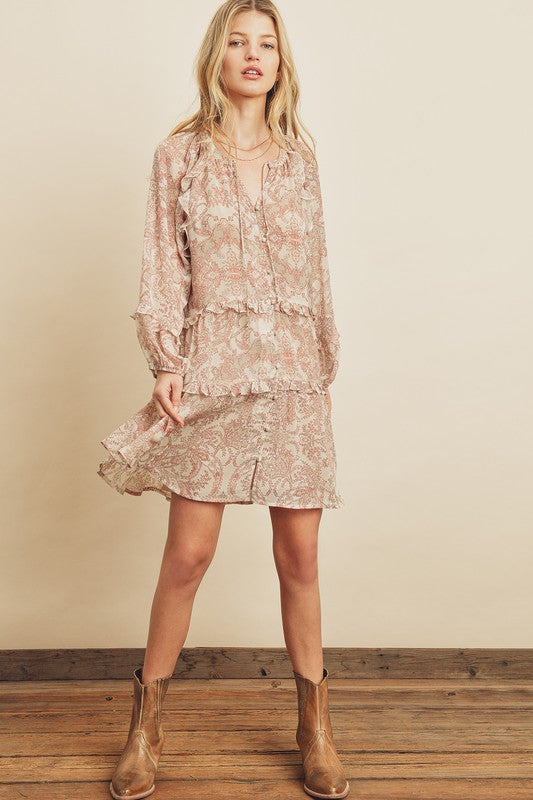 Paisley Babydoll Dress
