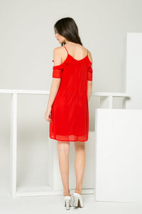 Ruffle Spaghetti Strap Dress