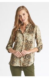 Dear John Snake Skin Button Down