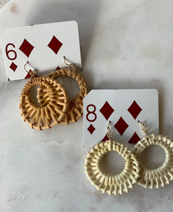 Rattan Circular Earrings