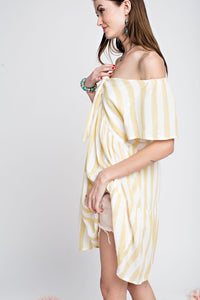 Striped Babydoll Tunic Dress