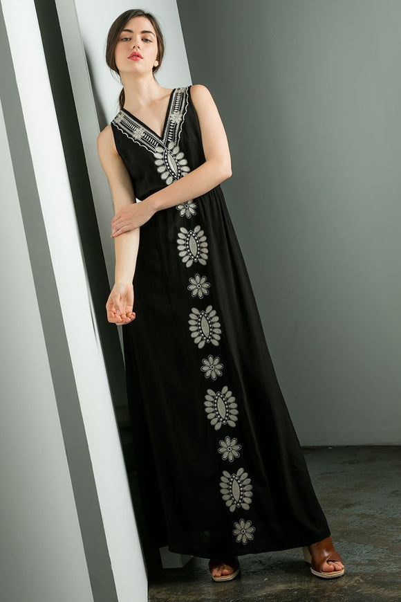 Embroidered Maxi