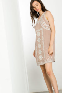 Sleeveless Embroidered Dress