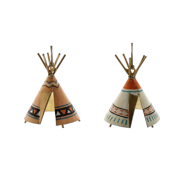 Painted Metal Patterned Teepees