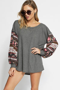 Thermal Waffle Knit Top