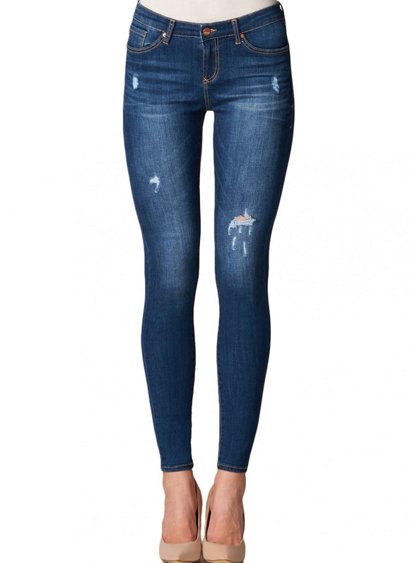 Gisele High Waisted Skinny in Threshold