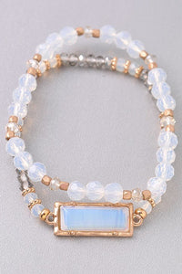 Layered Stretch Bead Bracelet
