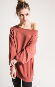 Wildflower Oversized Off-The-Shoulder Pullover