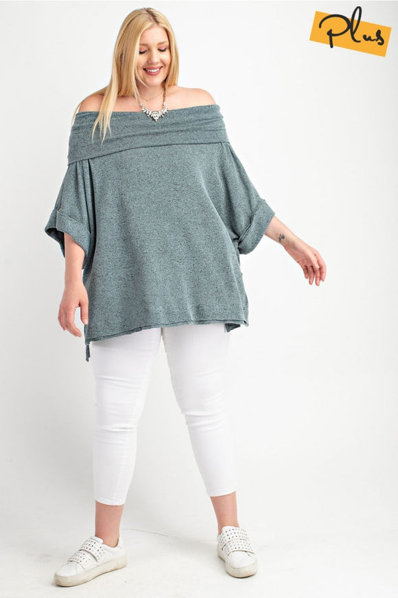 Off The Shoulder Oversized Knit Sweater