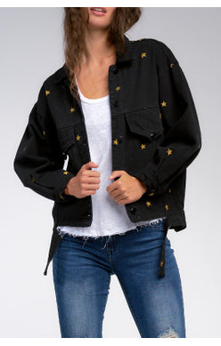 Gold Star Denim Jacket OS