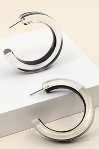 Acetate Open Hoop Earrings