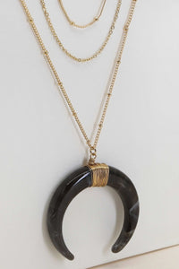 Layered Crescent Horn Necklace