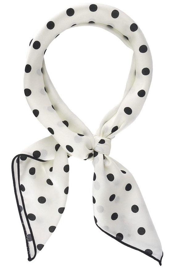Black & White Polka Dot Scarf