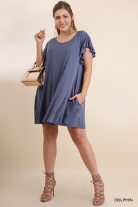 Cupro Pocket Tee Dress
