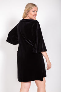 Bell Sleeve Velvet Dress