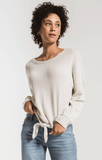 The Tie-Front Waffle Thermal Top