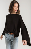 The Premium Fleece Flare Sleeve Top