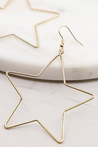 Star Shape Dangle Earring