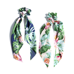 Tropical Print Hair Scarf