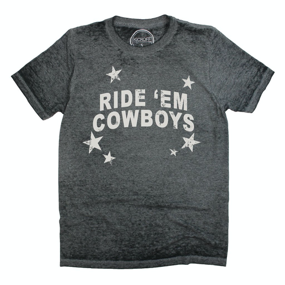 Ride 'Em Cowboys Acid Wash Tee