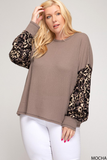 Curvy Girl Thermal Leopard Top
