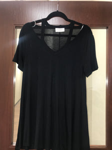 Cut-Out Shoulder Plus Size Top
